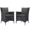 This item: Taryn Espresso and Charcoal Two Piece Outdoor Patio Chair, Set of 2
