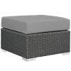 This item: Darren Canvas Gray Outdoor Patio Ottoman