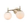 This item: Pax Modern Gold 16-Inch Two-Light Bath Vanity