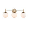 This item: Pax Modern Gold 24-Inch Three-Light Bath Vanity