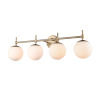 This item: Pax Modern Gold 33-Inch Four-Light Bath Vanity