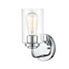 This item: Cora Chrome Five-Inch One-Light Wall Sconce