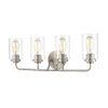 This item: Cora Satin Nickel 25-Inch Four-Light Bath Vanity