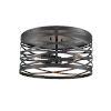 This item: Castor Matte Black 16-Inch Three-Light Flushmount