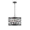 This item: Castor Matte Black 16-Inch Four-Light Pendant