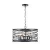 This item: Castor Matte Black 20-Inch Six-Light Pendant