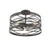 This item: Castor Weathered Iron 16-Inch Three-Light Semi Flushmount
