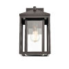 This item: Eloise Bronze Eight-Inch One-Light Outdoor Wall Sconce
