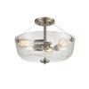 This item: Anna Brushed Nickel 15-Inch Three-Light Semi Flushmount