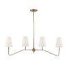 This item: Lyndale Natural Brass Four-Light Chandelier