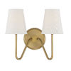 This item: Lyndale Natural Brass Two-Light Wall Sconce