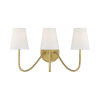 This item: Lyndale Natural Brass Three-Light Wall Sconce