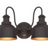 This item: Lex Oil Rubbed Bronze Two-Light Outdoor Wall Sconce