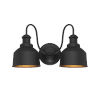 This item: Lex Matte Black Two-Light Outdoor Wall Sconce