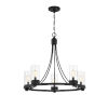 This item: Whittier Matte Black Five-Light Chandelier