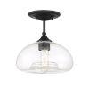 This item: Nora Matte Black One-Light Semi Flush Mount
