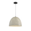 This item: Cora Concrete with Matte Black 16-Inch One-Light Pendant