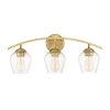 This item: Madison Natural Brass Three-Light Bath Vanity
