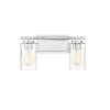 This item: York Chrome Two-Light Bath Vanity