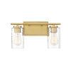 This item: York Natural Brass Two-Light Bath Vanity