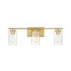 This item: York Natural Brass Three-Light Bath Vanity