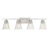 This item: Nora Brushed Nickel Four-Light Bath Vanity