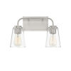 This item: Loring Brushed Nickel Two-Light Bath Vanity