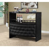 This item: Selby Black Tufted Bar Table with Wine Rack