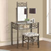 This item: Whittier Black Metal Vanity with Bench