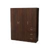 This item: Uptown Walnut Three-Cabinet Three-Drawer Cabinet