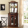 This item: Evelyn Mahogany 24-Inch Corner Bar Unit