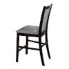 This item: Linden Espresso with Gray Side Chair, Set of Two