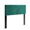 This item: Cooper Teal Angular Channel Tufted Performance Velvet Twin Headboard