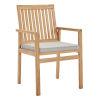 This item: Darren Natural Taupe Outdoor Patio Teak Wood Dining Armchair