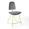 This item: Cooper Gray Performance Velvet Counter Stool