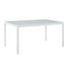 This item: Darren White 59-Inch Outdoor Patio Aluminum Dining Table