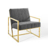 This item: Cooper Charcoal Channel Tufted Performance Velvet Armchair