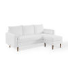 This item: Uptown White Upholstered Right or Left Sectional Sofa