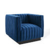 This item: Cooper Navy Tufted Performance Velvet Accent Armchair