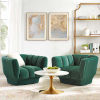 This item: Cooper Green Vertical Channel Tufted Performance Velvet Armchair, Set of Two
