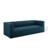 This item: Cooper Azure Channel Tufted Upholstered Fabric Sofa