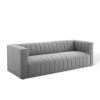 This item: Cooper Light Gray Channel Tufted Upholstered Fabric Sofa
