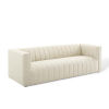 This item: Cooper Beige Channel Tufted Upholstered Fabric Sofa