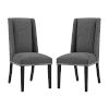 This item: Linden Gray Fabric Dining Chair, Set of Two