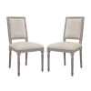 This item: Grace Beige 40-Inch Dining Side Chair, Set of Two
