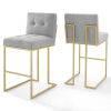This item: Monroe Gold Light Gray 40-Inch Bar Stool, Set of Two