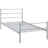 This item: Uptown Gray Twin Platform Bed Frame