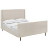 This item: Cooper Beige Queen Upholstered Fabric Sleigh Platform Bed