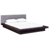 This item: Uptown Cappuccino Gray Queen Fabric Platform Bed