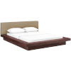 This item: Uptown Walnut Latte Queen Fabric Platform Bed